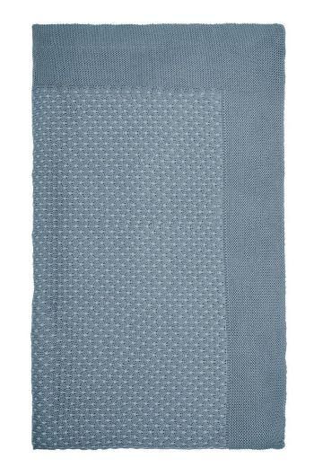 Blanket Cosy knitted blue