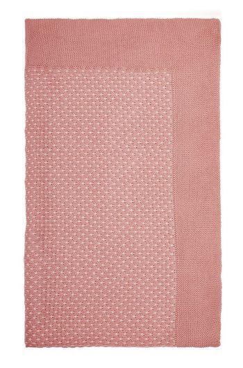 Decke Cosy gestrickt rosa