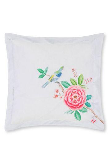 Cushion Good Morning square White