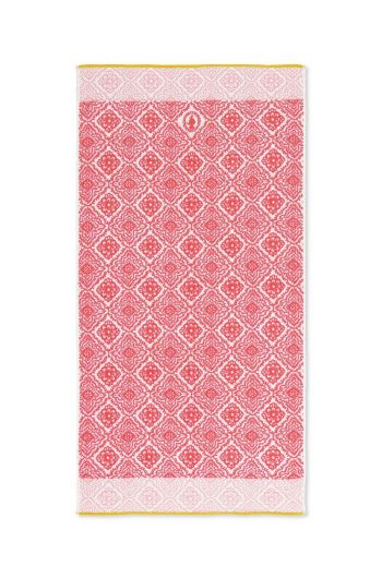 XL Bath towel Jacquard Check Dark pink 70x140 cm
