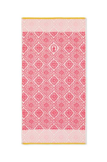 Bath towel Jacquard Check Dark pink 55x100 cm