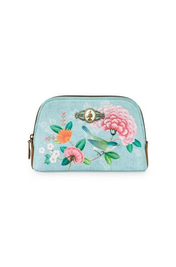 Cosmetic Bag Triangle Small Floral Good Morning Blue