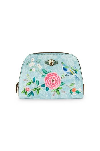 Necessaire medium Floral Good Morning Blau
