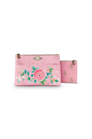 Cosmetic Bag set Floral Good Morning Pink