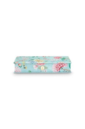Storage Box Small Floral Good Morning Blue