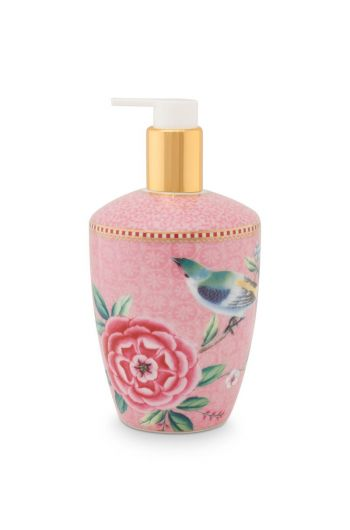 Soap Dispenser Floral Good Morning Pink