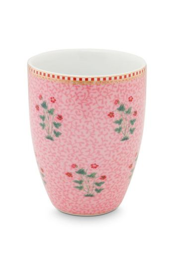 Drinking Cup Floral Good Morning Pink