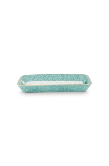 Soap Dish Floral Good Morning Blue