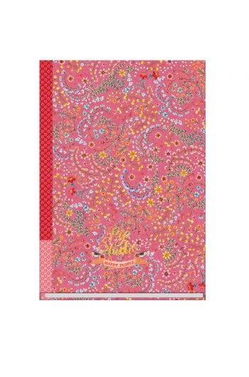 Notebook A5 ruled Jungle Animals pink