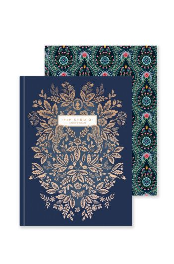 Set of 2 Notebooks A5 Moon Delight Blue