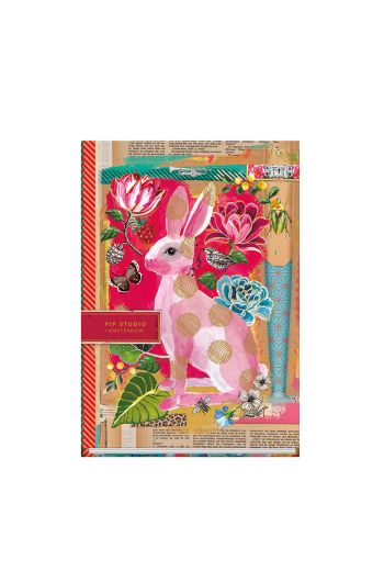 Telling Tales pink A4 lined notebook