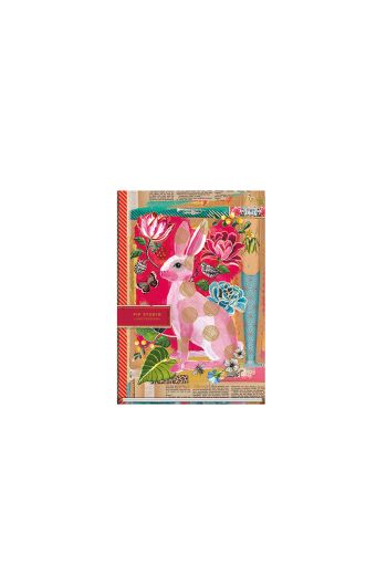 Telling Tales pink A5 lined notebook