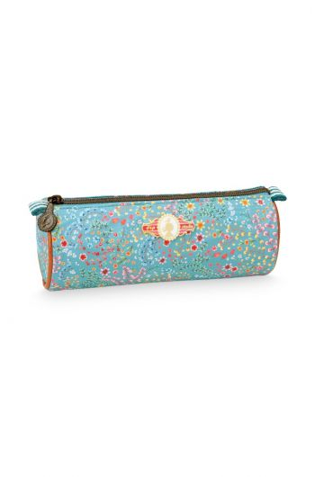 Pencil case round Jungle Animals blue