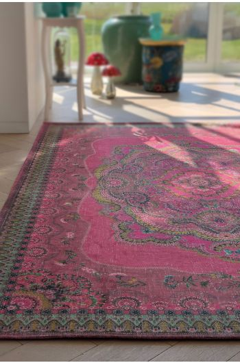 vintage-rectangular-majorelle-by-pip-carpets-in-red-with-flower-details