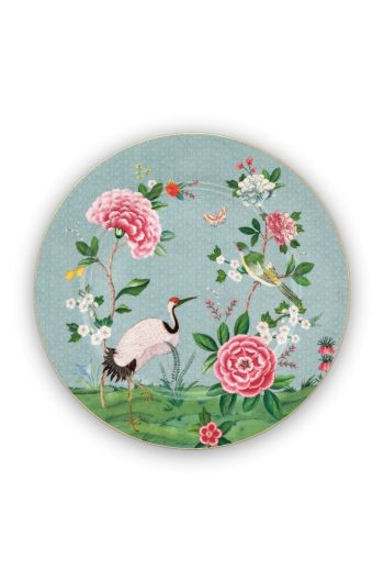 Blushing Birds Platzteller 32 cm blau