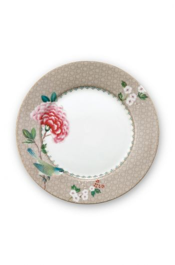 Blushing Birds Breakfast Plate Khaki 21 cm