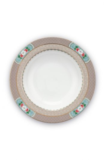 Blushing Birds Soup Plate Khaki 21.5 cm