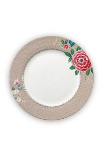 Blushing Birds Dinner Plate Khaki 26.5 cm
