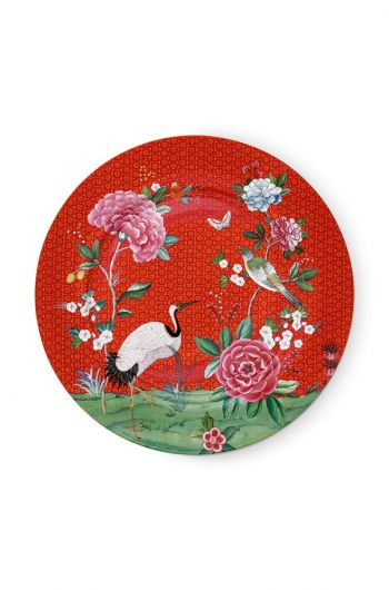 Blushing Birds Underplate Red 32 cm