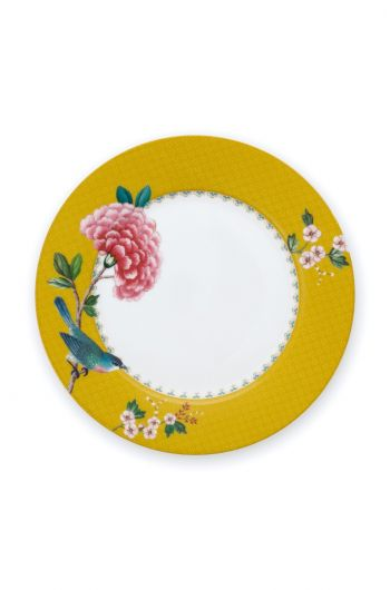 Blushing Birds Breakfast Plate Yellow 21 cm