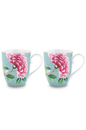 Coffret 2 Grand mug Blushing Birds Bleu 350ml