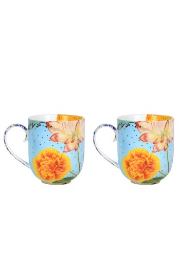 Royal Flowers Set of 2 mugs large