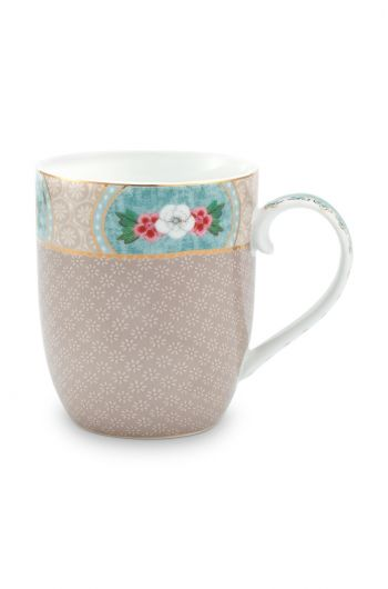 Blushing Birds Mug Small Khaki