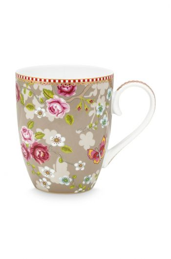Early Bird Mug large Chinese Rose Khaki