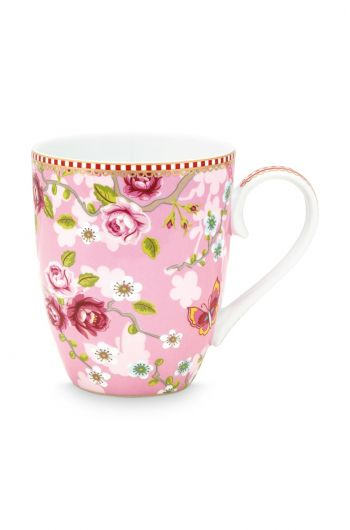 Early Bird Mug large Chinese Rose Pink