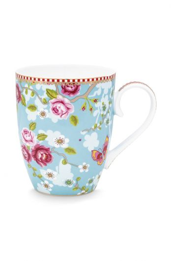 Early Bird Mug large Chinese Rose Blue