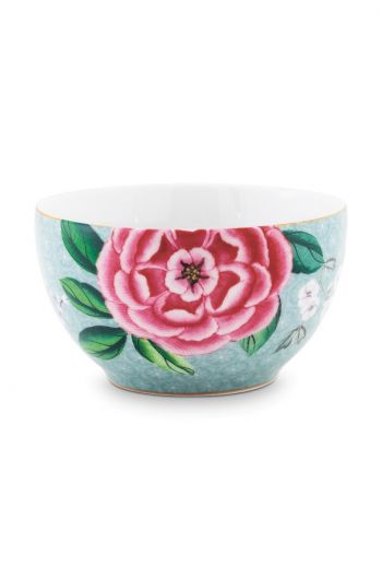 Blushing Birds Bowl small blue 9.5 cm