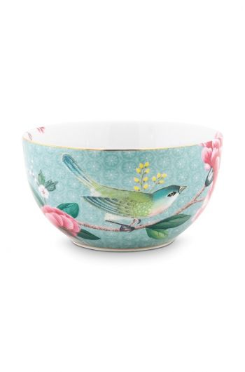 Blushing Birds Bowl blue 12 cm