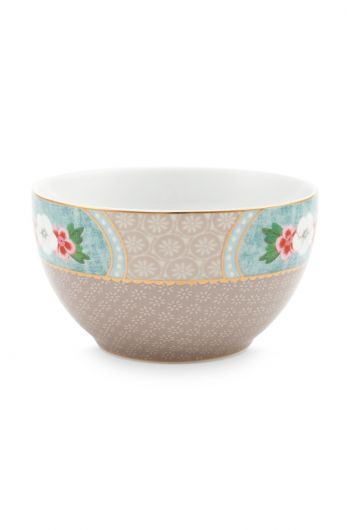 Blushing Birds Star Flower Bowl Small Khaki 9.5 cm