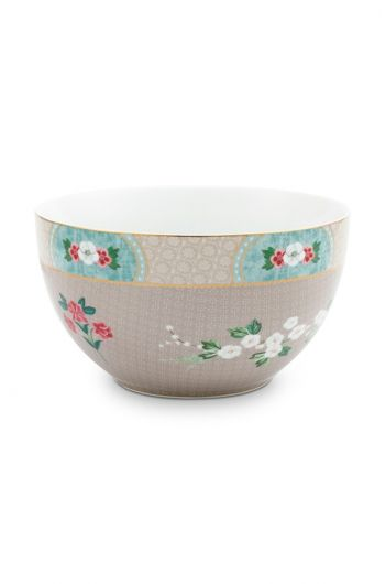 Blushing Birds Bowl Khaki 18 cm