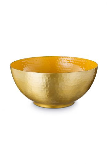 Blushing Birds Enamelled Bowl Yellow 27 cm