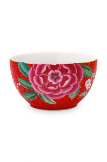 Blushing Birds Bowl Small Red 9.5 cm