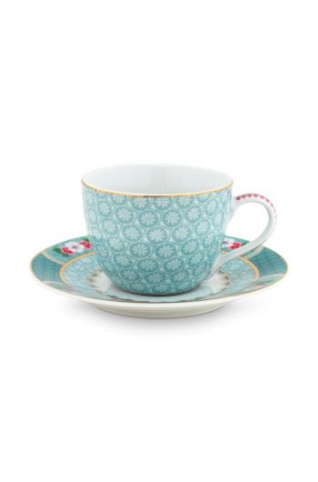 Blushing Birds Espresso Cup & Saucer blue