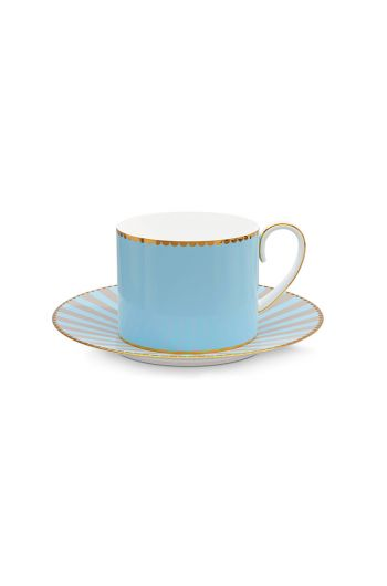 Love Birds Tasse & Untertasse Blau