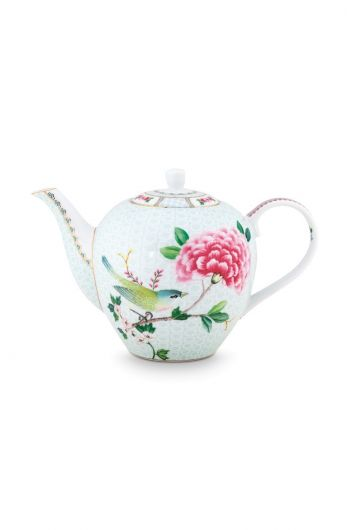 Blushing Birds Teapot large white