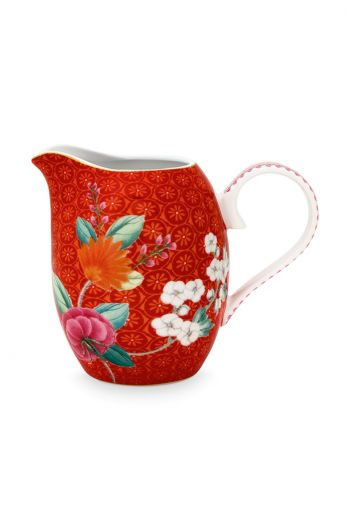 Blushing Birds Milk Jug Small Red