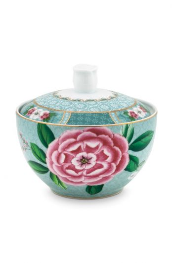 Blushing Birds Sugar Bowl blue