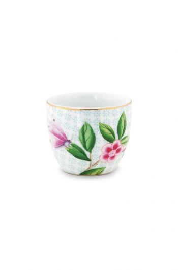 Blushing birds Egg Cup white