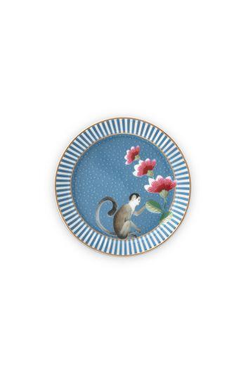 thee-tip-la-majorelle-van-porselein-met-een-aap-in-blauw