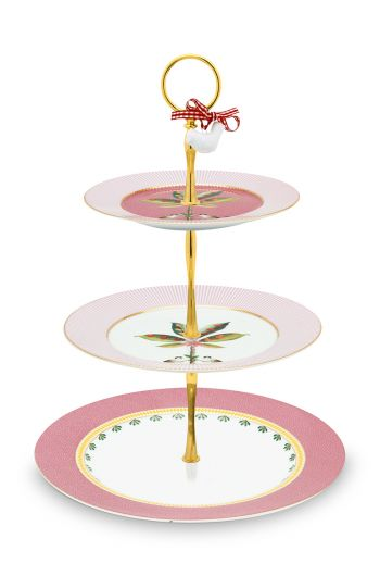 La Majorelle Cake Stand 3 Layers Pink