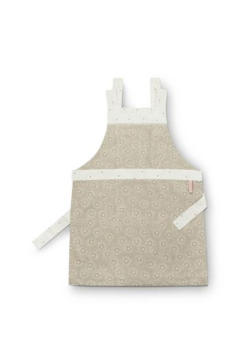 Apron Dotted Flower Khaki
