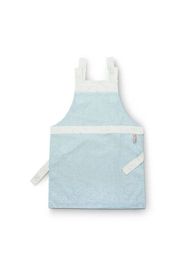Apron Dotted Flower Blue
