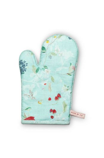 Oven Gloves Hummingbirds Blue