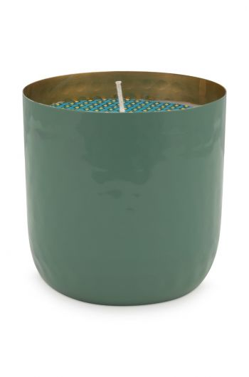Blushing Birds Candle Green 9 cm