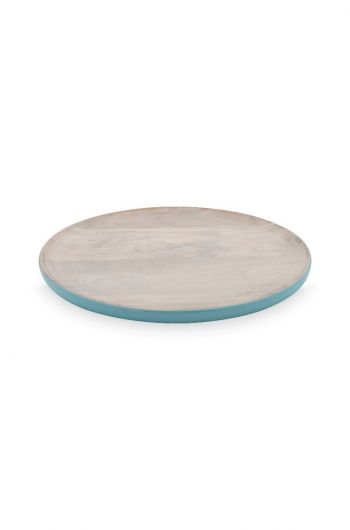 Blushing Birds Wooden Plate blue 17 cm