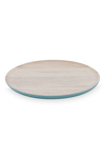 Blushing Birds Wooden Plate blue 30 cm